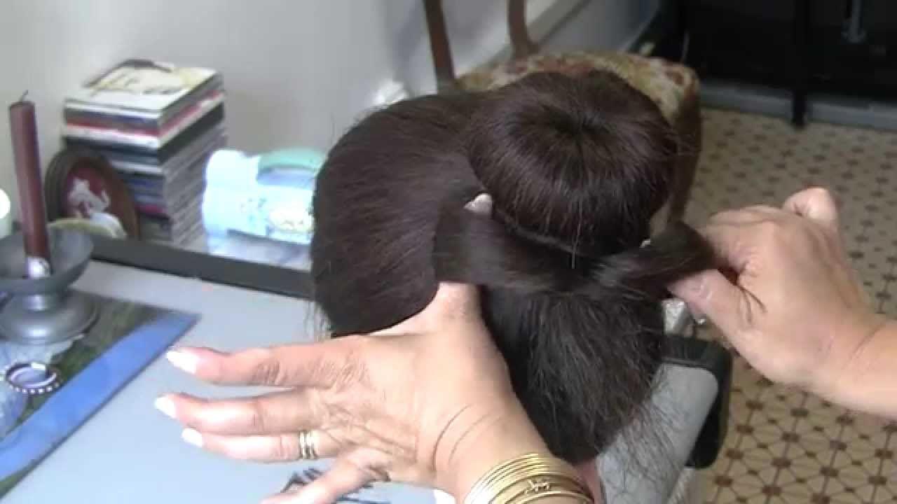 Como fazer um coque com laço com o proprio cabelo