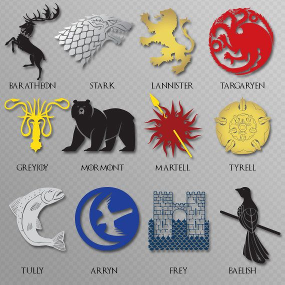 Game Of Thrones Inspired House Sigil Decal Choose Your House
