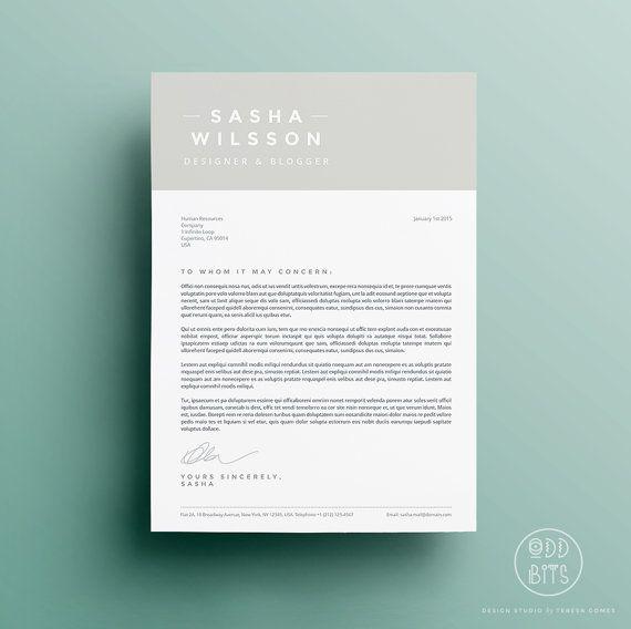Graphic Designer Cover Letter Captivating Resume Cv Design Cover Letter Template Instant Par Oddbitsstudio .