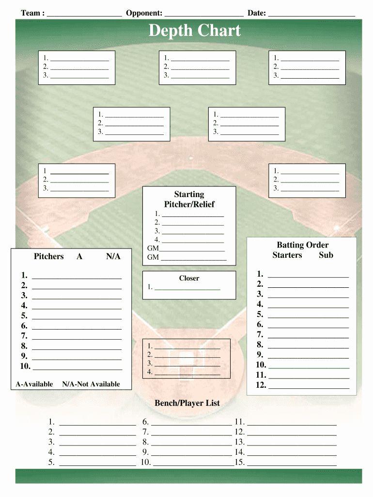 Baseball Depth Chart Template Excel Luxury Baseball Field