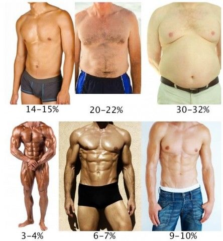 how to tell your body fat percentage pictures