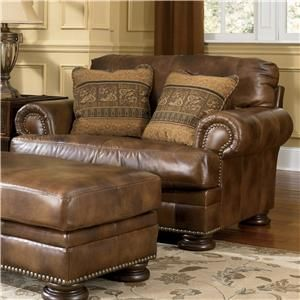 Leather Couches Ashley 39 S Leather Sofa By Ashley Millennium Ivan Smith Furniture Sofa