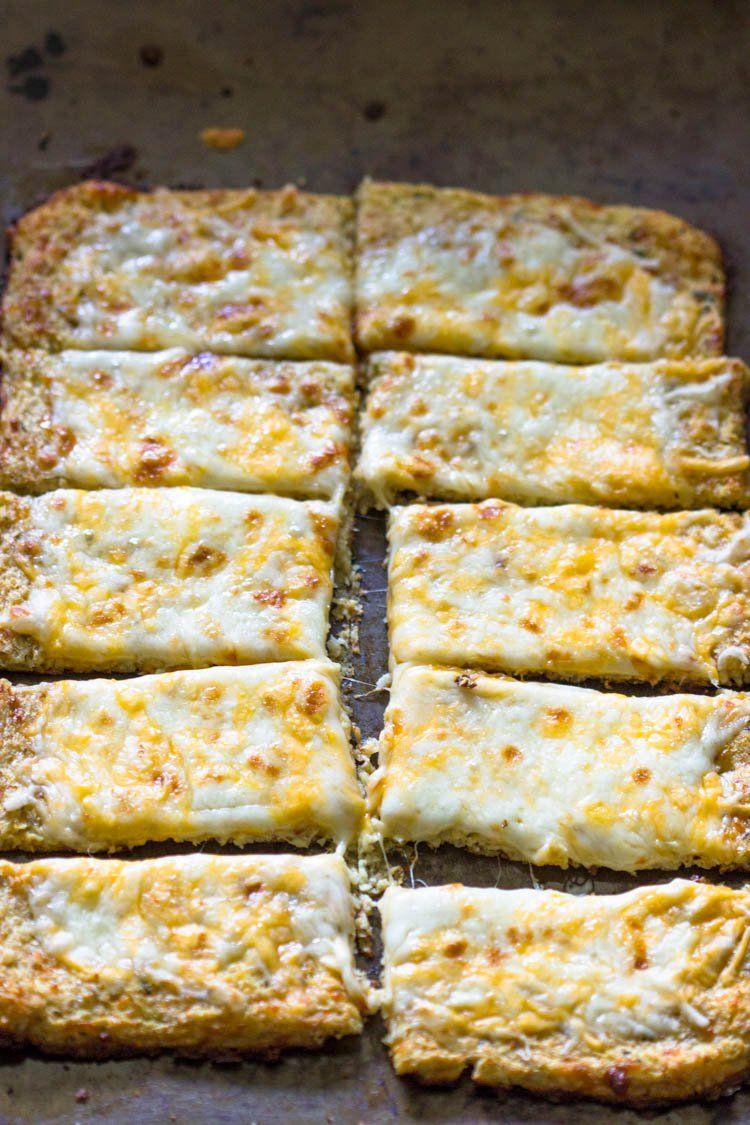 Low Carb Cauliflower Crust Bread Sticks Recipes Cooking Recipes