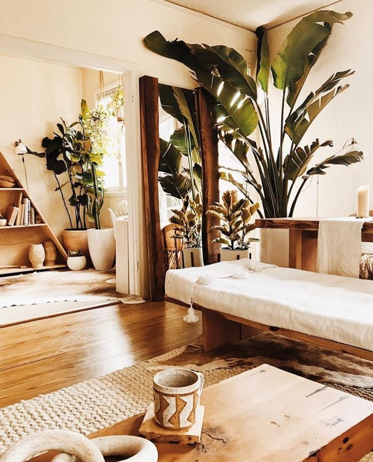 love the color scheme haha white and wood and plants (With ...