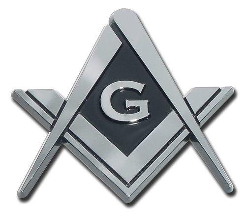 Mason Masonic Chrome Auto Emblem