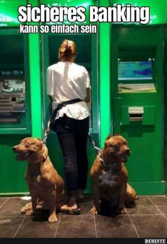 Sicheres Banking.. kann so einfach sein.. Lustige bilder