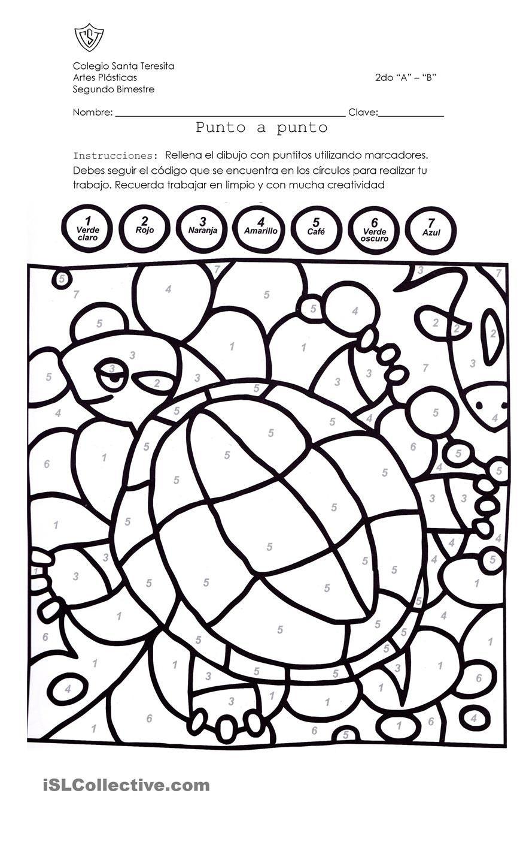 Tortuga para colorear | Spanish | Pinterest | Tortuga para colorear ...