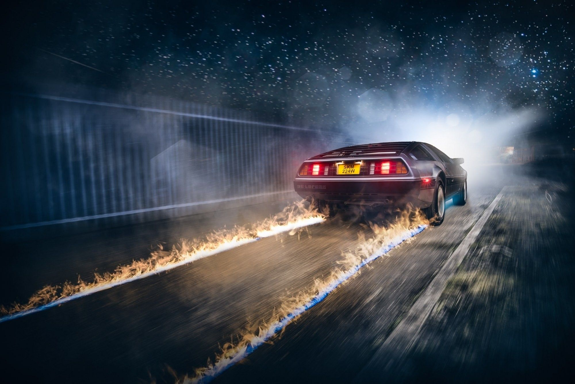 back to the future car | hdwallpaperfx | pinterest | hd backgrounds
