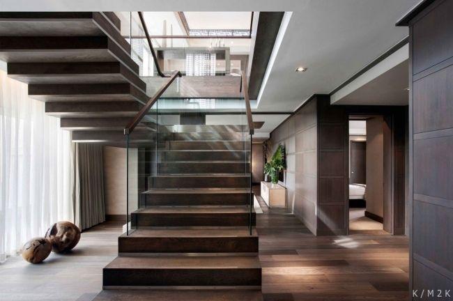 private wohnung inneneinrichtung warmes holz dunkel Ideal home - inneneinrichtung