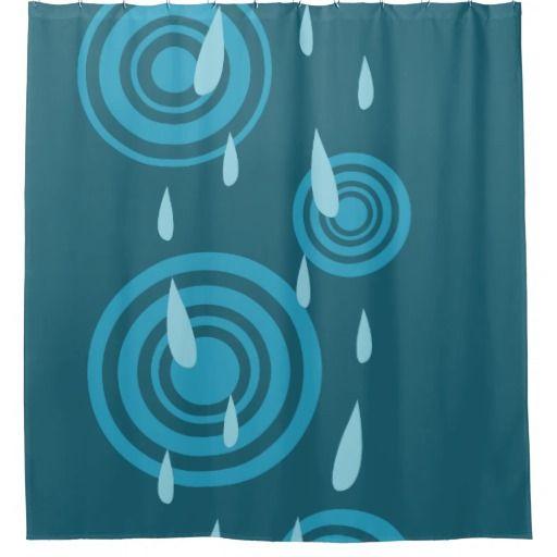 Blue Rain Shower Curtain Zazzle Com Blue Rain Rain Shower Rain