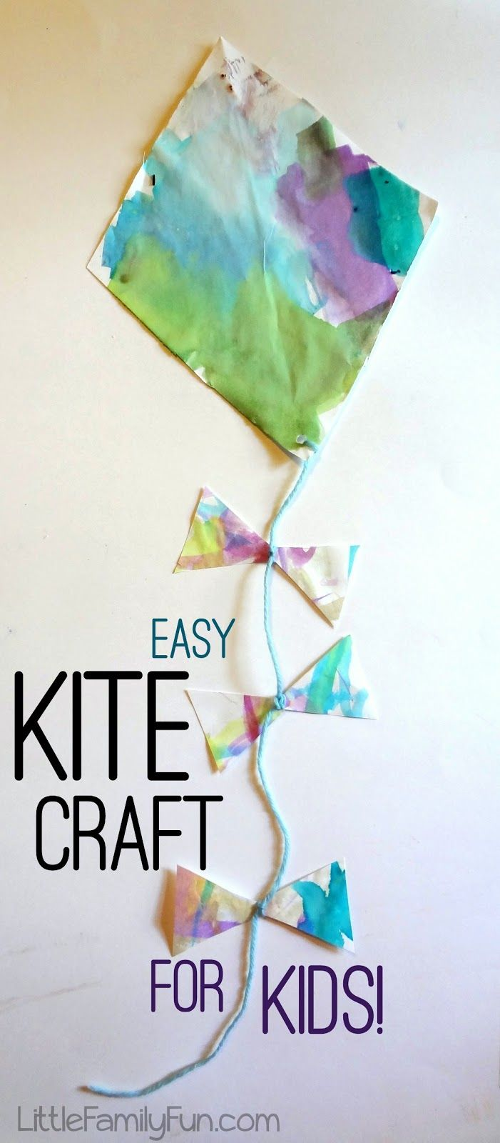 Easy Craft Ideas For Kids Pinterest Part - 36: Little Family Fun: Easy Kite Craft For Kids!