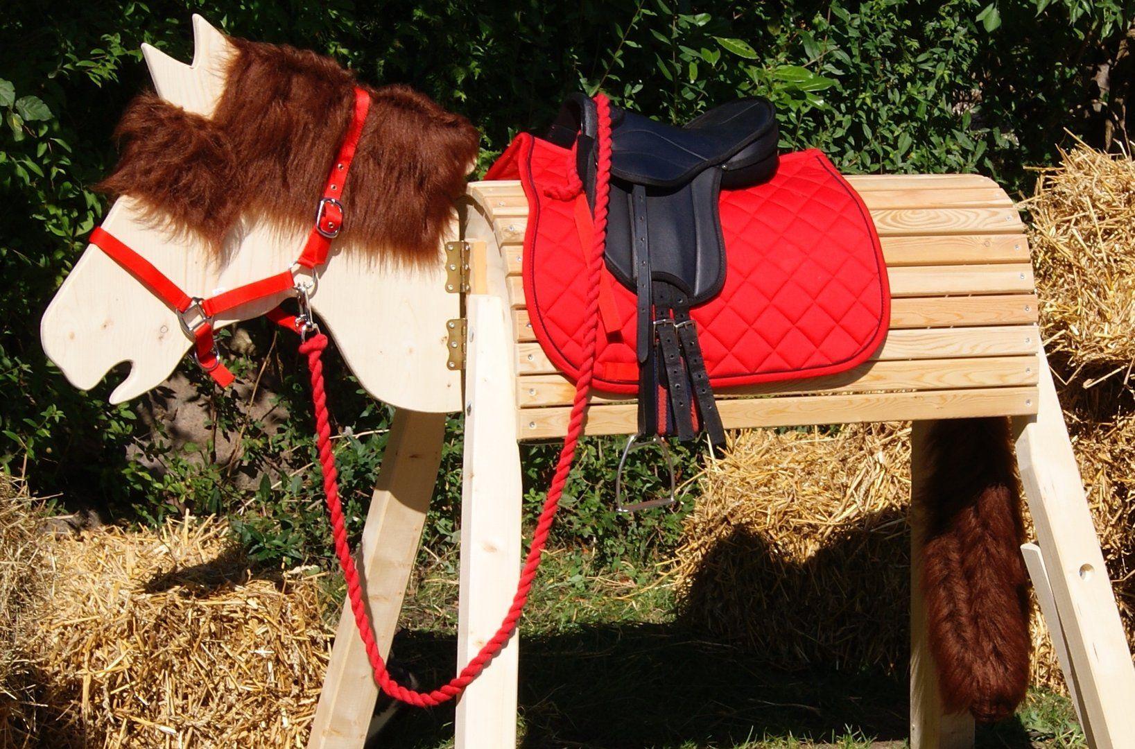Komplettset Mia 100 Cm Das Sparset Holzpferd Holzpferd Garten Satteldecke