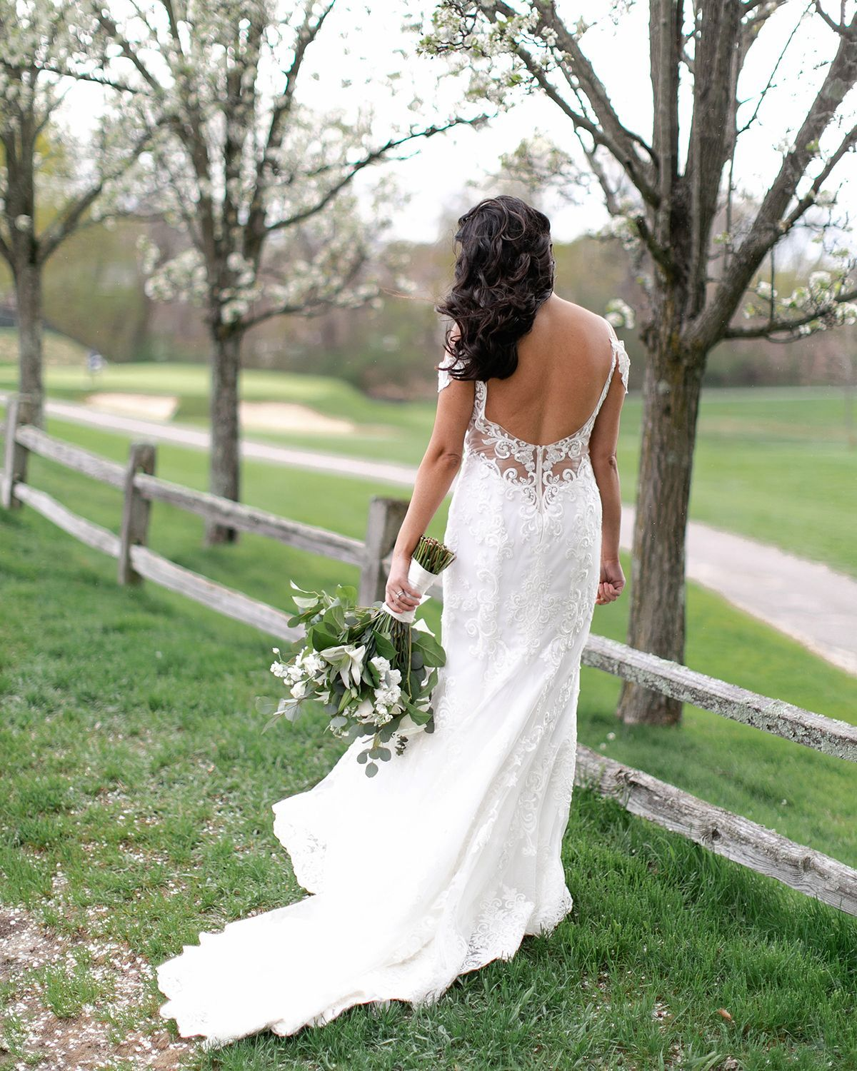 Lace Wedding Dress With Off Shoulder Sleeves By Casablanca