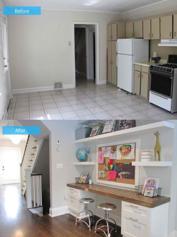 Vorher und nachher Fotos Ein Toronto House wurde in ein gemütliches