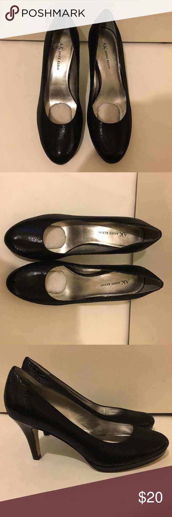 Anne Klein black heels It's really cute. It has this cotton insert in the shoe it's in great condition Anne Klein Shoes Heels