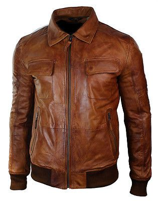 a5cfd8fa0 Details about Mens B3 Bomber Rust Tan Brown Removable Fur Collar ...