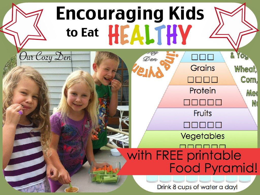 Encouraging Kids To Eat Healthy With Free Printable Food