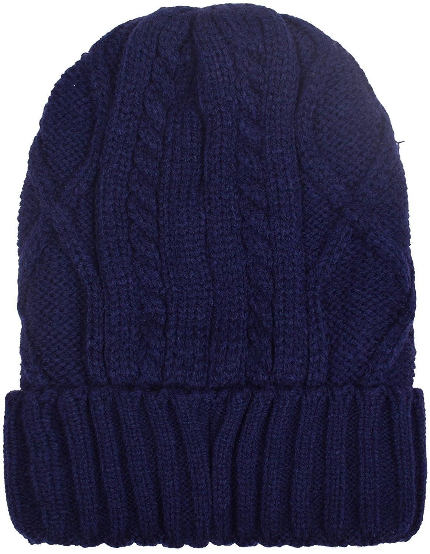 8bb03a4a04d Cuff Beanies For Men Women Fleece Lined Skull Beanie Hat Ski Hats Winter  Knit Cap - Navy - CQ1884LM7CU - Hats   Caps