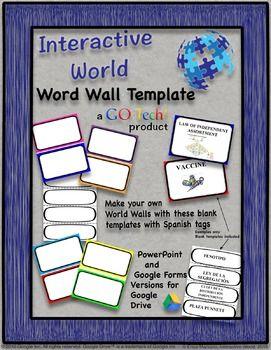 Go Tech Word Wall Template Editable Word Wall Template Word Wall Personal Word Wall