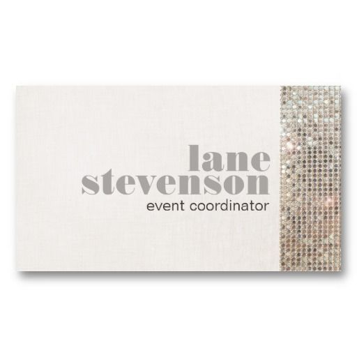 Event and entertainment planner sequins business card templates event planner business cards templates fbccfo Images