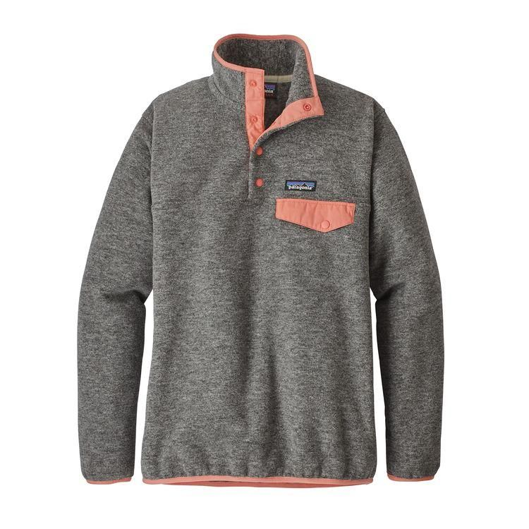 Patagonia W S Synchilla Snap T Fleece Pullover Nickel W Peak Pink Fleece Pullover Womens Fleece Pullover Pullover