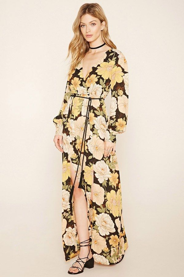 FOREVER 21 Contemporary Floral Maxi Dress  1a7884f2b702d