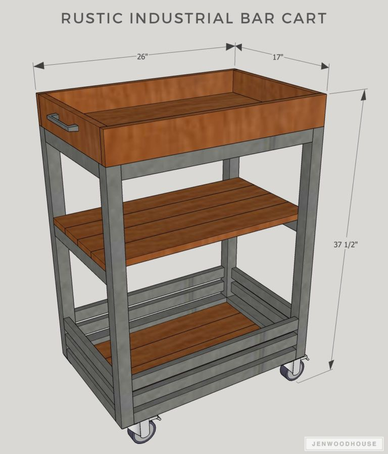 Build An Easy DIY Bar Cart For Your Next Holiday Party - Building Strong