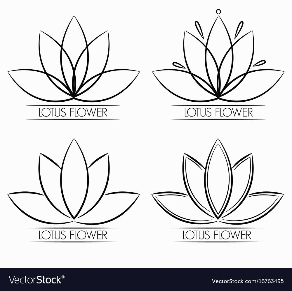 Floral lotus flower logo abstract download a free preview
