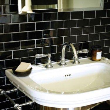 Black Gloss Mosaic Wall Tiles Shop Wall Floor Tiles Fired