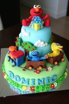 Elmo and friends birthday cake Sesame street cake Sesame streets