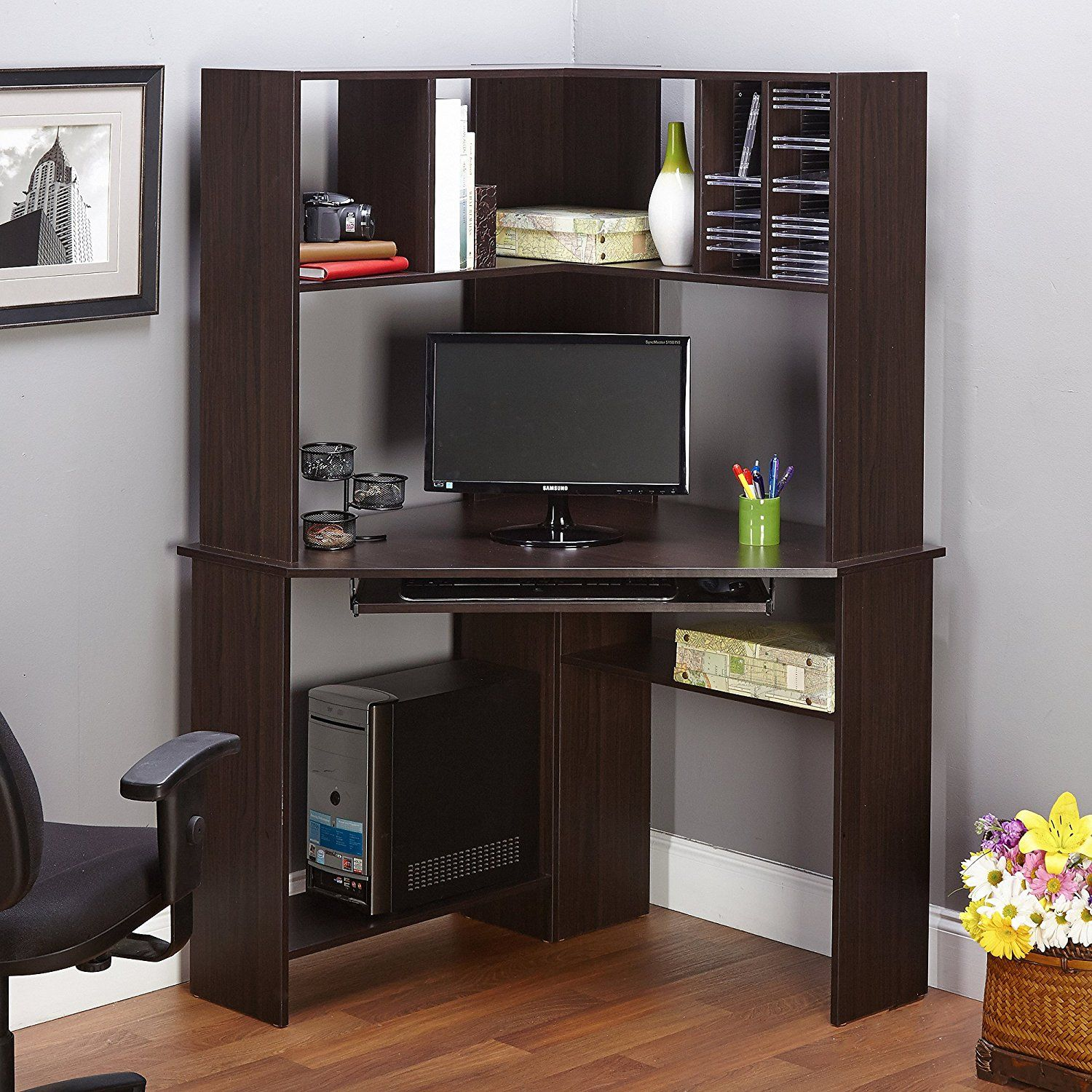 computer corner desk with hutch modern home office furniture