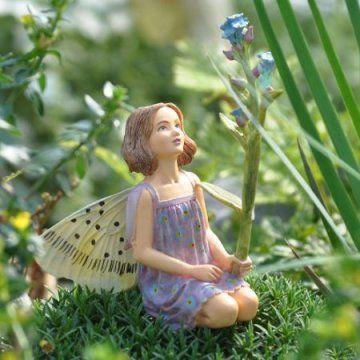 Miniature Fairy Garden Forget-Me-Not Fairy