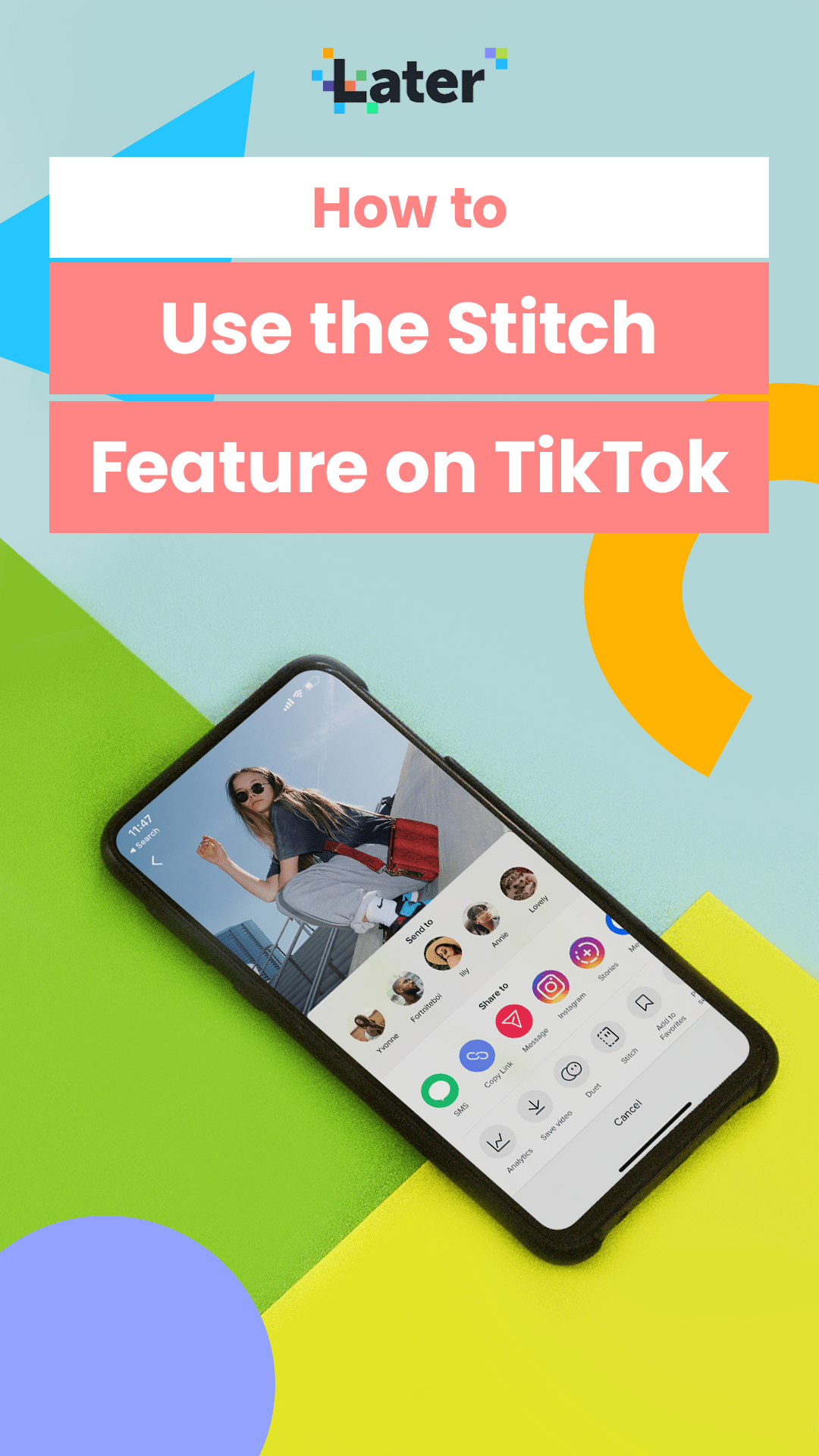 How To Use Stitch Tiktok S New Editing Feature Later Blog Stitch Media Education Social Media