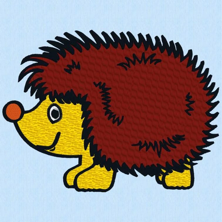 Free Embroidery Design: Hedgehog | Free Embroidery Designs ...