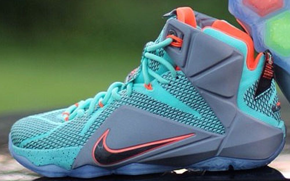 free shipping 7da44 309a1 Authentic Nike Lebron 12 Miami Dolphins Shoes For Sale Online Free Shipping  http