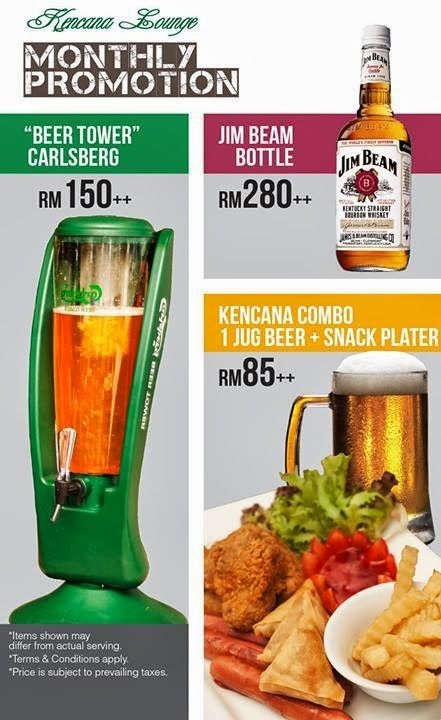 Monthly Promotion At Kencana Lounge Corus Hotel Kl Beer Tower Beer Snacks Hotel