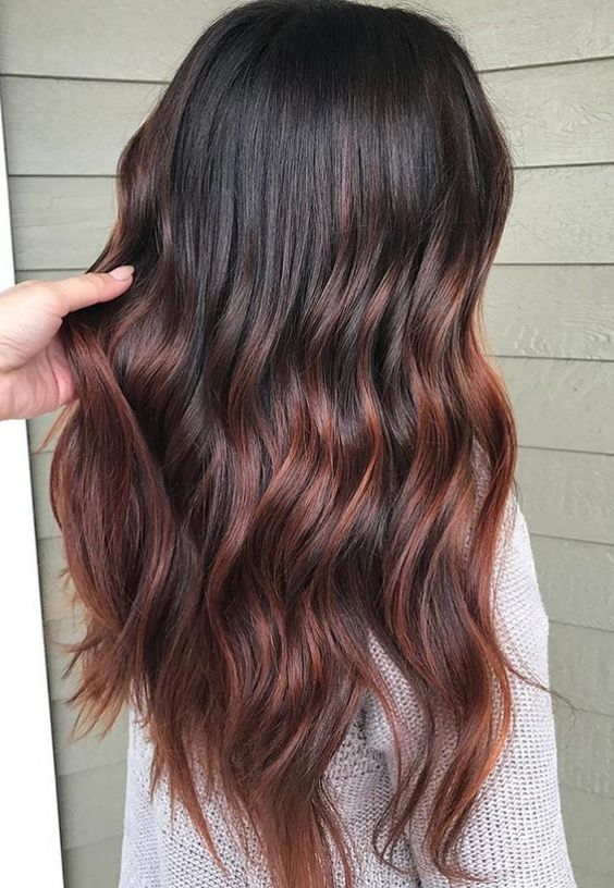 Gorgeous Warm Copper Brunette Colored Blends Hair 20172018  hairstyles 2019 in 2019  Hair