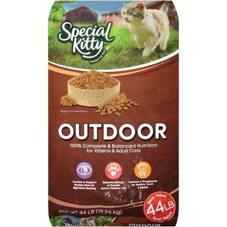 Special Kitty Outdoor 44 Lbs Bag Of Dry Cat Food Serve Them Only The Best Food Wholesome Ingredients Th Raw Cat Food Recipes Dry Cat Food Wholesome Ingredients