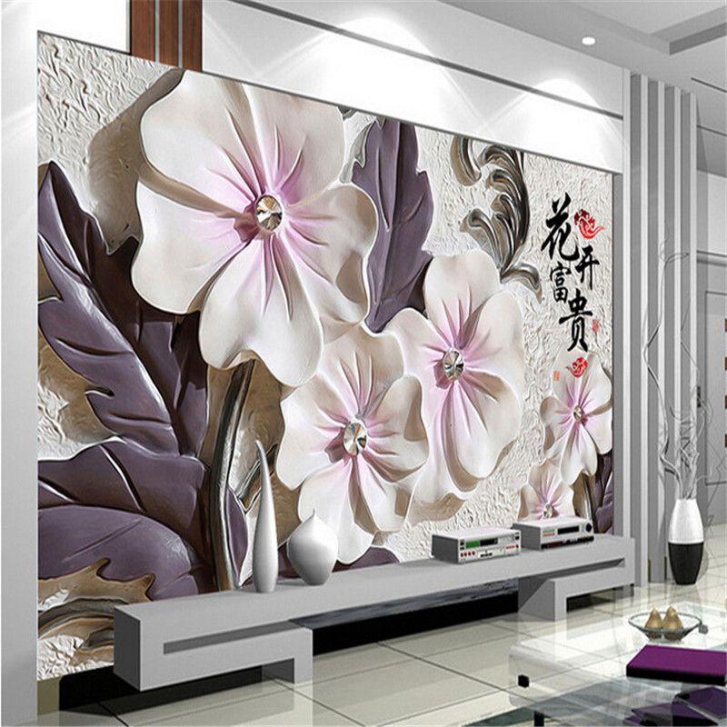 Aliexpress Com Comprar Foto Papel Pintado Lotus Moderno Minimalista