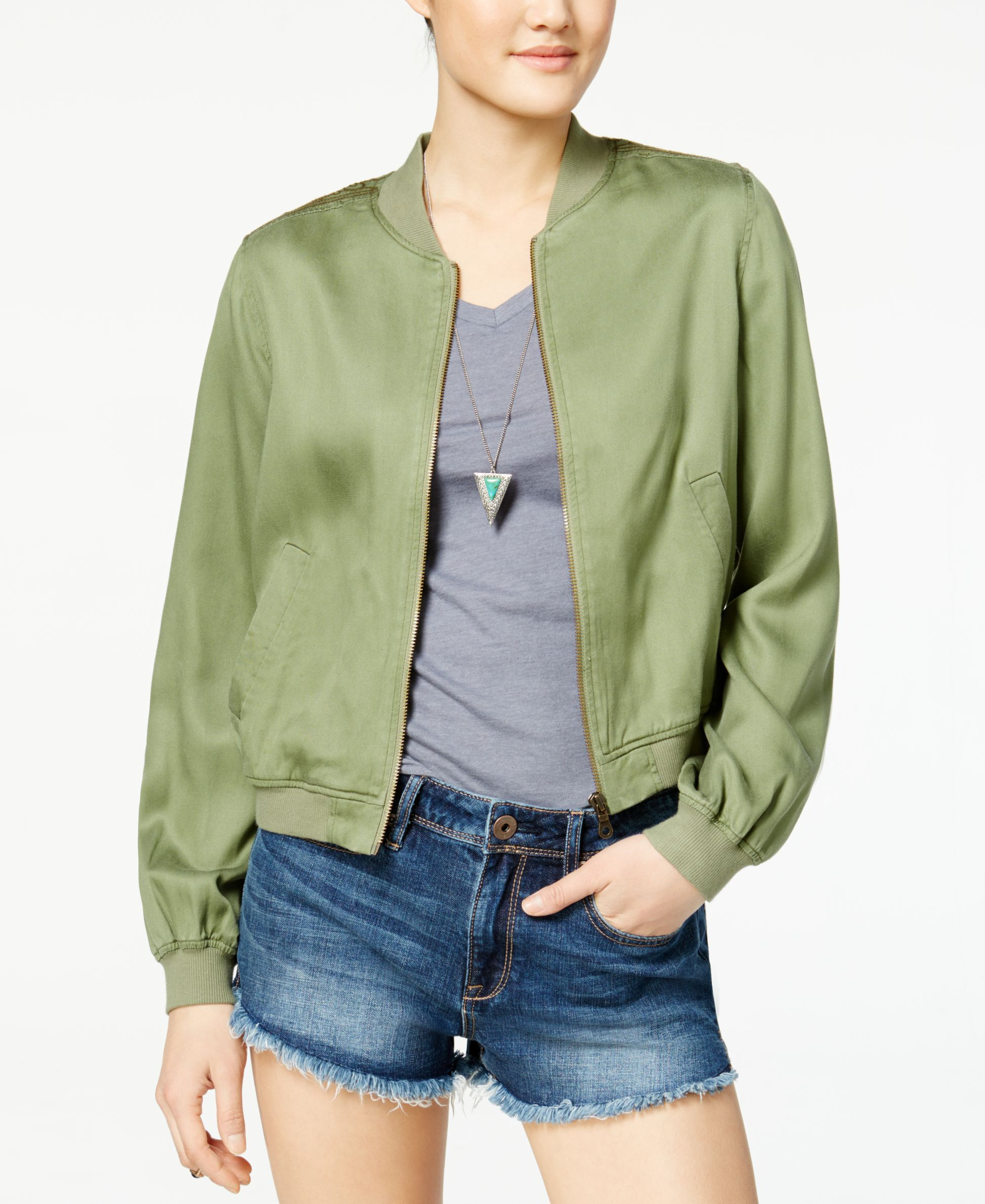 cb730d028 Jessica Simpson Shauna Embroidered Bomber Jacket | Products | Camo ...