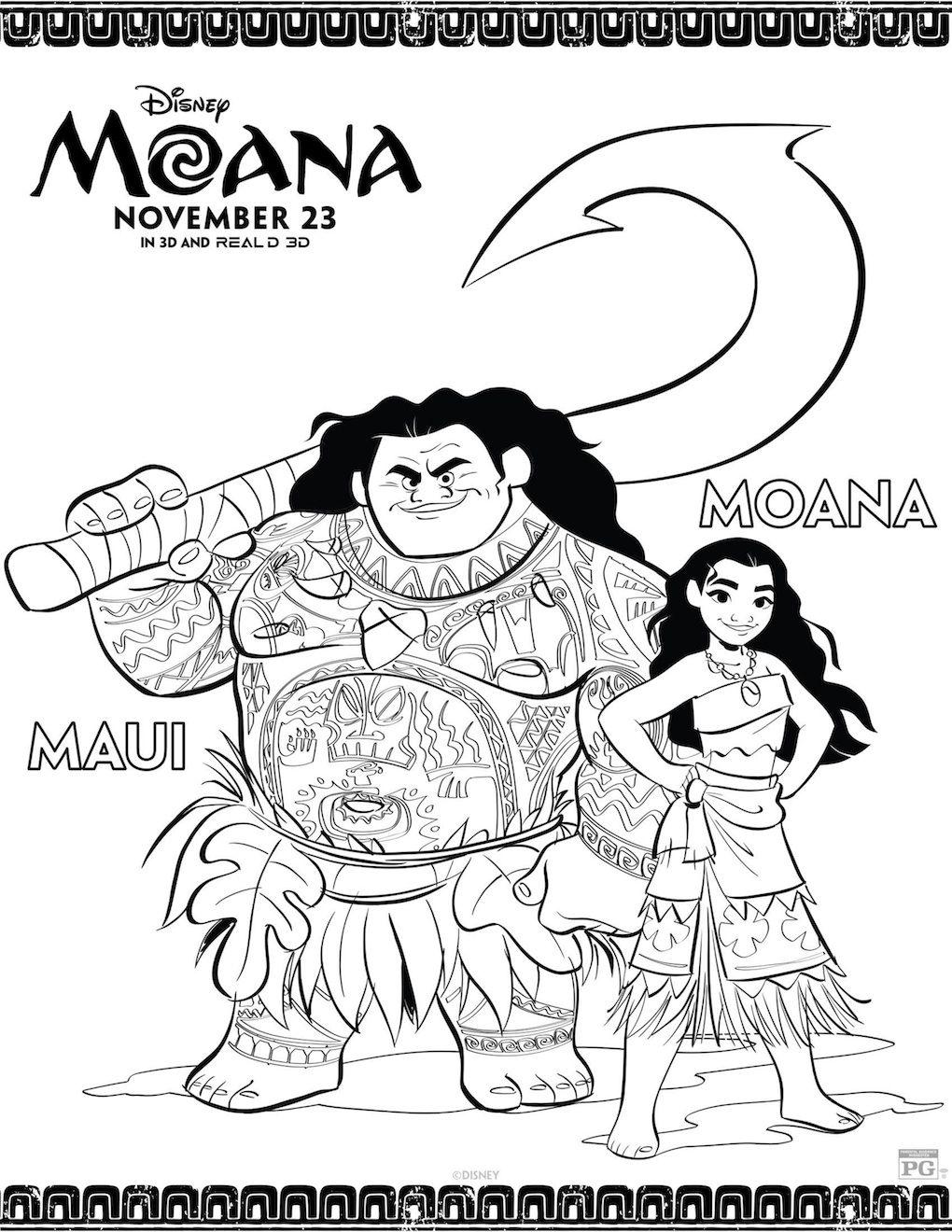 Free Printable Moana Coloring And Activity Sheets Moana