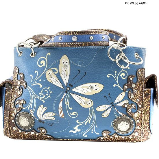 Dra2 8469 Pea Whole Dragonfly Design Handabgs Concealed Weapon Purses