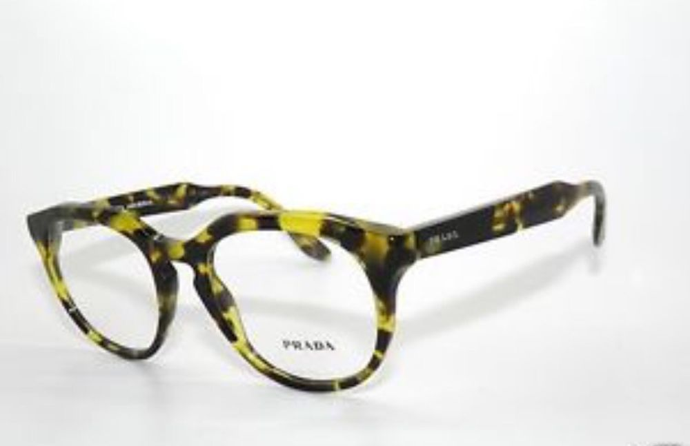 3dcfcdcf61a34 PRADA Frames Plastic Tortoise Unisex Eyeglasses VPR 13S UBN-101 48mm  PRADA