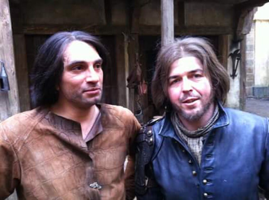 D'Artagnan and Athos stunt doubles