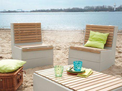 Gartenmöbel aus Beton Garten Pinterest Garten - podest mit sessel