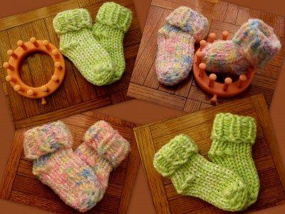 Flower Loom Footsies | Telar, Tejido y Bebé