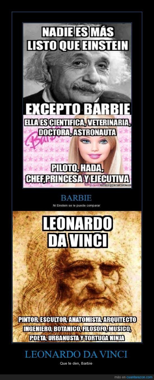 Leonardo Da Vinci Que Te Den Barbie Imágenes De Risa