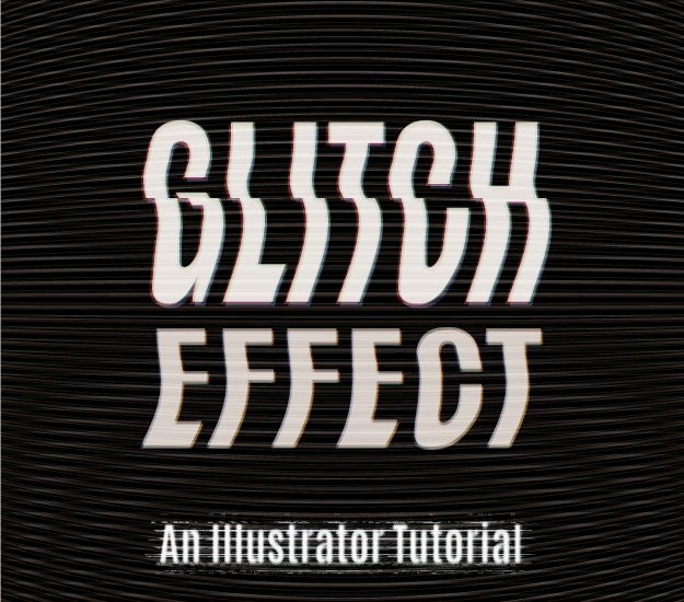 How to create a vector TV glitch effect in Adobe Illustrator