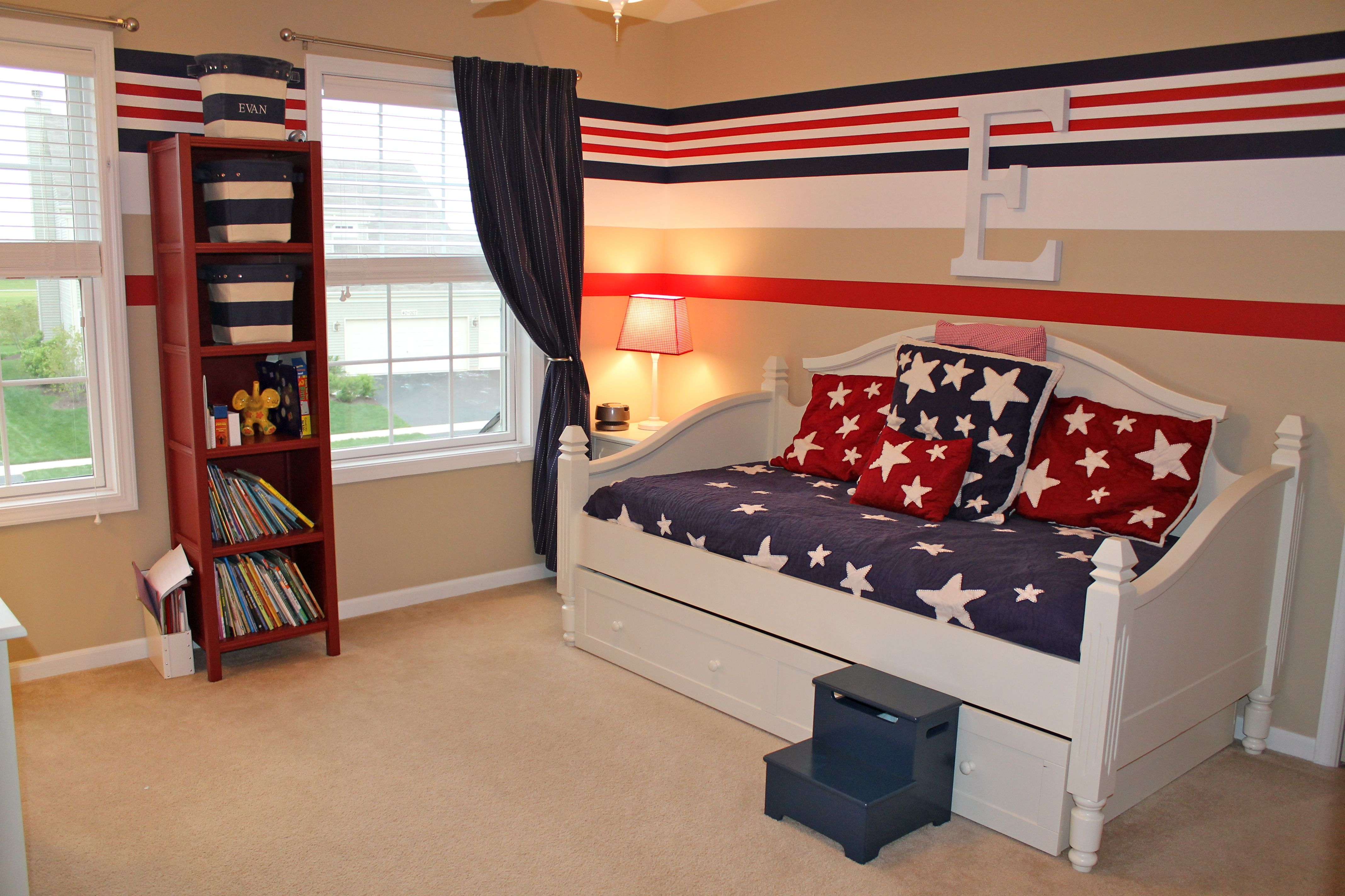 Red White Blue Bedroom ~ Red White And Blue Boyu0027s Bedroom .