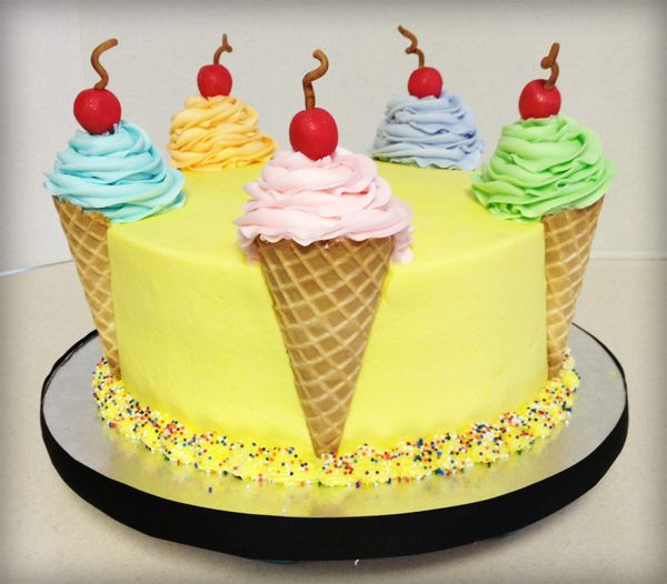 Along With Chocolates, Girls Are Also Fond Of Ice Cream, Ice Cream That Too On Cake Add An